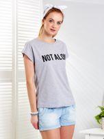 Jasnoszary t-shirt NOT ALONE                                  zdj.                                  3