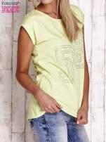Jasnozielony t-shirt z numerem 58 z dżetów                                  zdj.                                  3