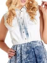 Jeansowa sukienka z efektem marmurkowym                                  zdj.                                  5