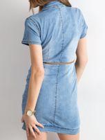 Jeansowa sukienka z suwakiem niebieska                                  zdj.                                  2