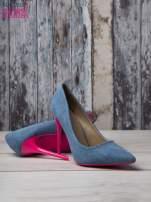 Jeansowe szpilki na różowym obcasie Denim Glam                                  zdj.                                  4