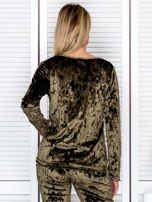 Khaki aksamitna bluza damska                                   zdj.                                  2