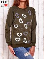 Khaki bluza w serduszka                                  zdj.                                  4
