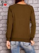 Khaki bluza z napisem MAM FOCHA                                  zdj.                                  4