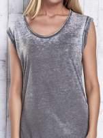 Granatowa długa sukienka acid wash                                                                           zdj.                                                                         6