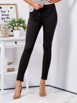 Khaki dopasowane spodnie high waist                                  zdj.                                  1