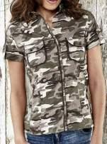 Khaki koszula w militarnym stylu Funk n Soul                                  zdj.                                  5