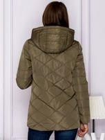 Khaki kurtka przejściowa z ozdobnymi suwakami                                  zdj.                                  2