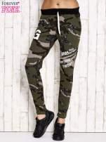 Khaki ocieplane spodnie dresowe motyw militarny                                  zdj.                                  1