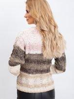 Khaki-różowy sweter Florine                                  zdj.                                  2