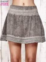 Khaki spódnica z efektem dekatyzowania                                  zdj.                                  8