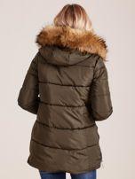 Khaki zimowa kurtka z futerkiem                                  zdj.                                  2