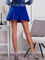 Kobaltowa rozkloszowana spódnica damska                                  zdj.                                  2