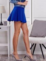 Kobaltowa rozkloszowana spódnica damska                                  zdj.                                  5