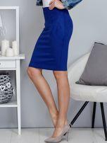 Kobaltowa spódnica z imitacji zamszu                                  zdj.                                  3