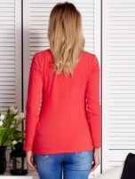 Koralowa bluzka z rysunkowym printem                                  zdj.                                  2