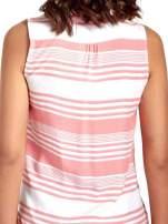 Koralowa koszula w paski bez rękawów                                  zdj.                                  6