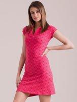 Koralowa sukienka polo w serduszka                                  zdj.                                  3