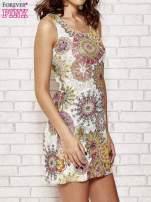Koronkowa sukienka z kolorowymi kwiatami                                  zdj.                                  3