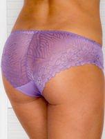 Koronkowe majtki figi z kokardką fioletowe                                  zdj.                                  2