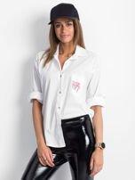Koszula biała z nadrukiem flamingów                                  zdj.                                  1