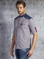 Koszula męska w drobną kolorową kratkę wielokolorowa PLUS SIZE                                  zdj.                                  3