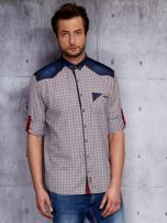 Koszula męska z denimowymi modułami PLUS SIZE                                  zdj.                                  5