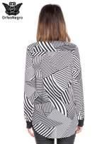 Koszula we wzór zebra print z czarną stójką i mankietami                                  zdj.                                  4