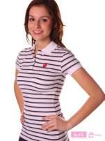 Koszulka polo w paski                                                                          zdj.                                                                         3