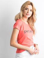 Koszulka z napisem pomarańczowa                                  zdj.                                  3