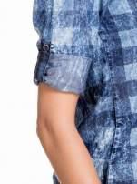 Kraciasta marmurkowa koszula z jeansu                                  zdj.                                  6