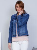 Krótka kurtka jeansowa niebieska                                   zdj.                                  6