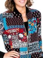 Kurtka bomber jacket w patchworkowe wzory                                  zdj.                                  6