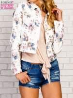 Kwiatowa kurtka jeansowa                                                                          zdj.                                                                         1