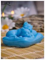 LaQ Mydełko Koty na poduszce - niebieski / Zapach - wata cukrowa BEZ SLS i SLES                                  zdj.                                  4