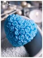 LaQ Mydełko Serce w różyczki - niebieski / Zapach - wata cukrowa BEZ SLS i SLES                                  zdj.                                  2