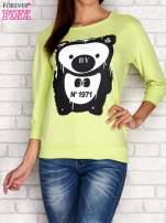 Limonkowa bluza z nadrukiem pandy                                  zdj.                                  1