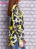 Limonkowa koszula z motywem kwiatowym                                  zdj.                                  3