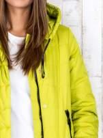 Limonkowa przejściowa kurtka puchowa z dłuższym tyłem                                  zdj.                                  6