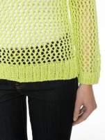 Limonkowy siatkowy sweter                                                                          zdj.                                                                         6