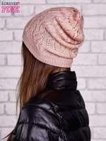 Łososiowa ażurowa czapka                                  zdj.                                  2