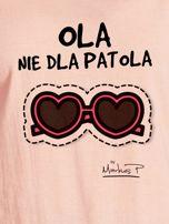Łososiowy t-shirt damski OLA NIE DLA PATOLA by Markus P                                  zdj.                                  2