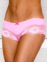 Majtki szorty damskie z koronką 2-pak różowo-niebieskie                                  zdj.                                  4
