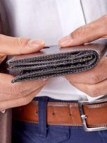 Męski portfel czarny ze skóry                                  zdj.                                  9