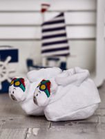 Miękkie buciki dziecięce z ozdobnym misiem białe                                  zdj.                                  3