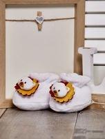 Miękkie buciki dziecięce z ozdobnym noskiem białe                                  zdj.                                  2