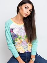 Miętowa bluza Paradise                                  zdj.                                  1