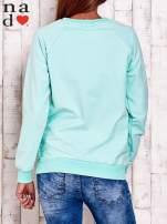 Miętowa bluza w serduszka                                  zdj.                                  4