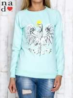 Miętowa bluza z godłem                                                                          zdj.                                                                         1