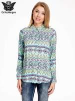 Miętowa koszula w azteckie wzory                                                                          zdj.                                                                         1
